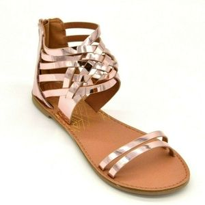 Qupid Womens Athena-1206A Woven Sandals Size 7 New